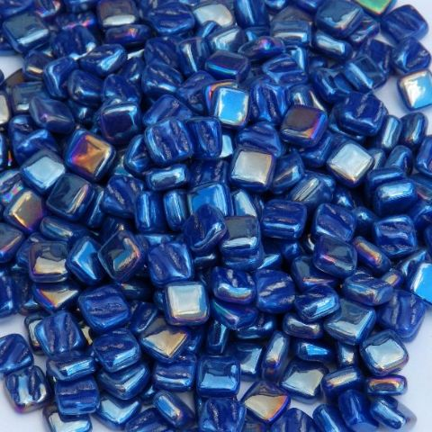 8mm Square Tiles - Indigo Pearlised - 50g